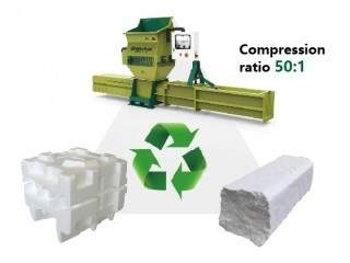Professional EPS compactor of GREENMAX APOLO series