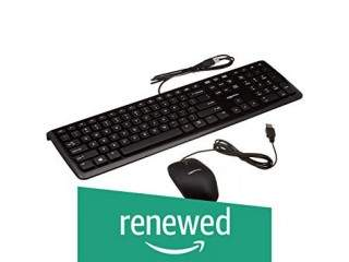 AmazonBasics USB Wired Computer Keyboard And Wired Mouse Bundle Pack